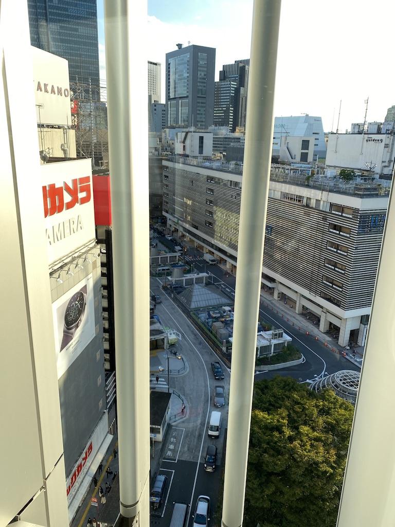 新宿東口駅前献血ルームからの眺望